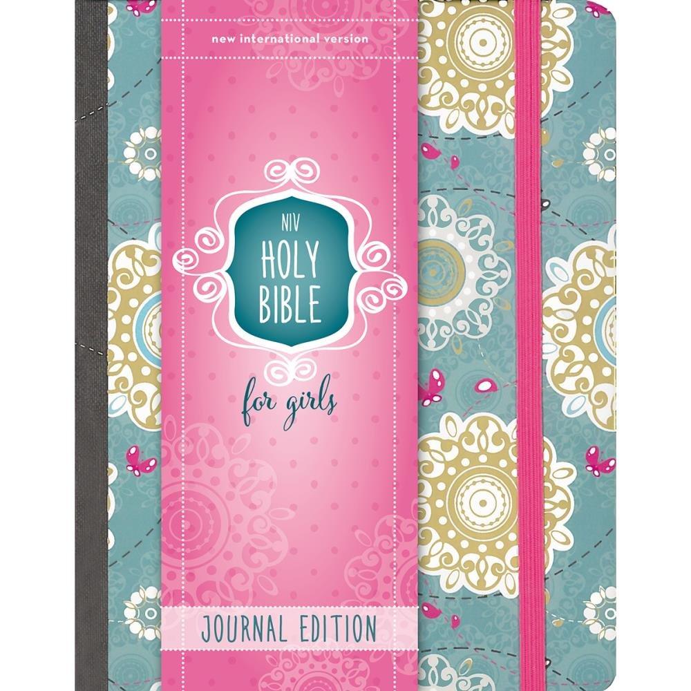 BIBLE JOURNALING - NIV Holy Bible For Girl Turquoise