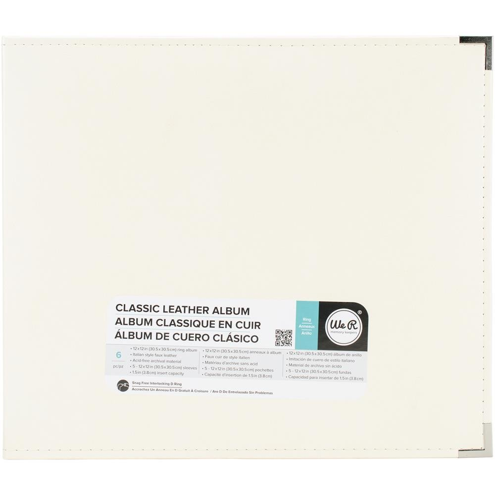 Classic Leather Ring 12X12 - Vanilla