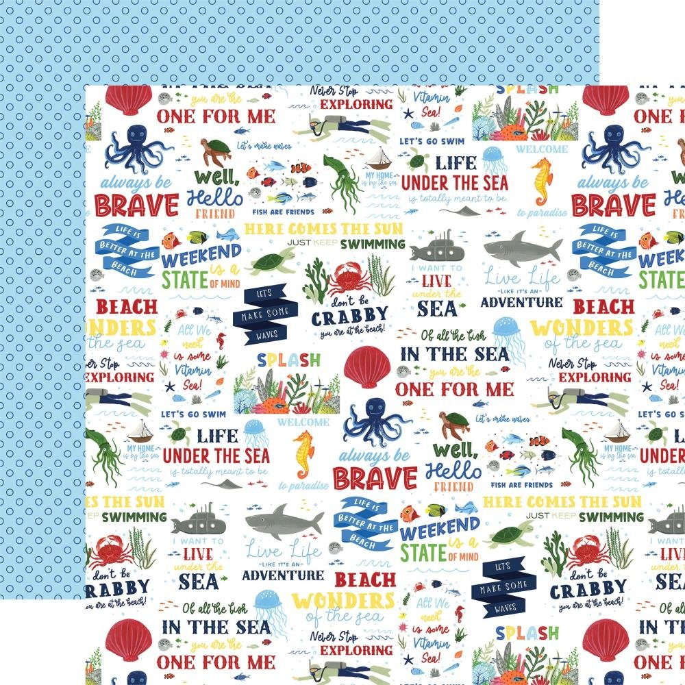 Echo Park Under Sea Adventures  (Double Sided 12x12) Vitamin Sea