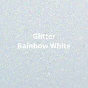 Vinyl - Heat Transfer - Glitter - Rainbow White - 12 x 20