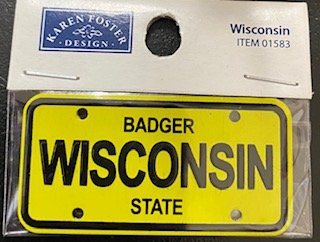 STATE PLATE - WISCONSIN