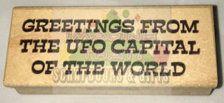 STAMP - GREETINGS From the UFO Capital of the World