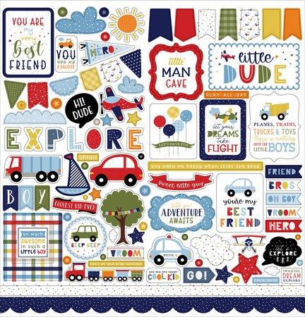 Echo Park - Little Dreamer Boy Element Stickers 12x12