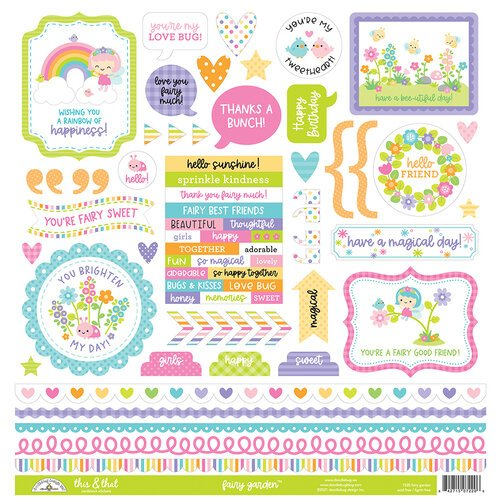 Doodlebug - Fairy Garden This & That Stickers