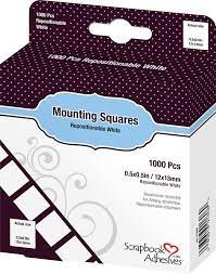 Scrapbook Adhesives - White Mounting Squares 1000 ct. Repositionable