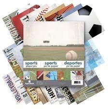 Sports 12x12 Paper Pad