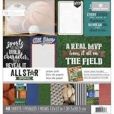 All Star Sports 12x12 Paper Pad