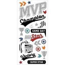 MVP 3D Puffy Stickers