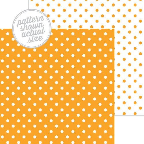 Doodlebug Designs - Tangerine Swiss Dot 12x12 Paper