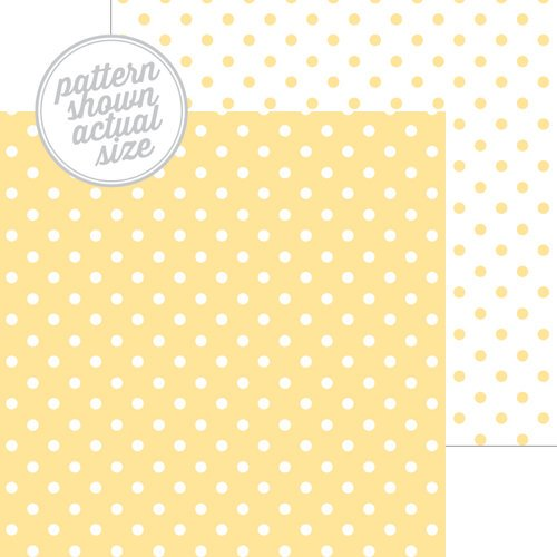 Doodlebug - Lemon Swiss Dot 12x12 Paper
