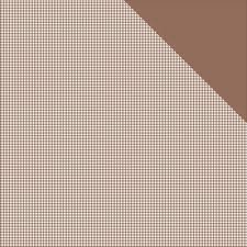 Authentique Milk Chocolate Brown Check Micro Basics 12x12