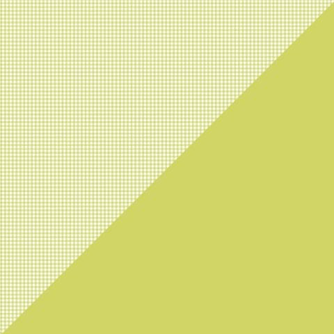 Authentique Citrus Green Check Micro Basics 12x12