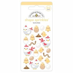 Doodlebug - Hen & Chicks Shape Sprinkles