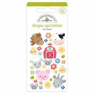 Doodlebug - Farm Friends Shape Sprinkles