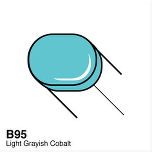 Copic B95 Light Grayish Cobalt Sketch