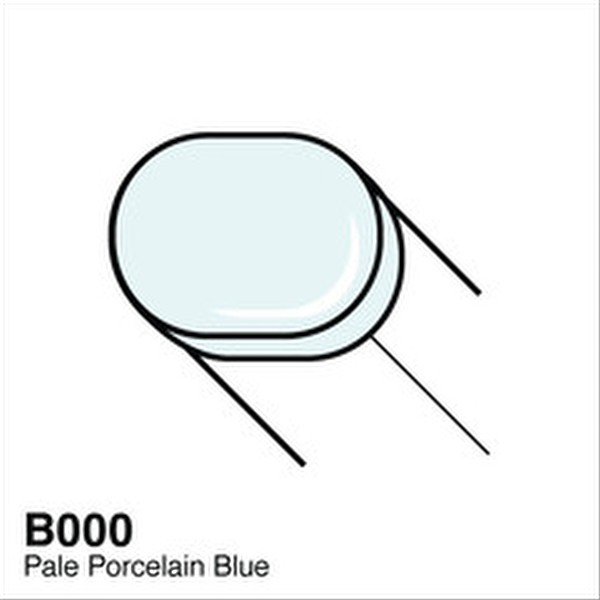 Copic B000 Pale Porcelain Blue Sketch Marker