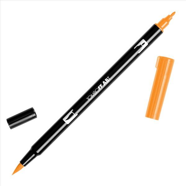 Tombow - Dual Brush Orange Marker #933