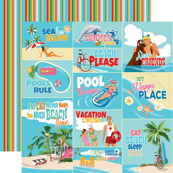 Carta Bella - Summer Splash Scene Journaling Cards 12x12 Paper