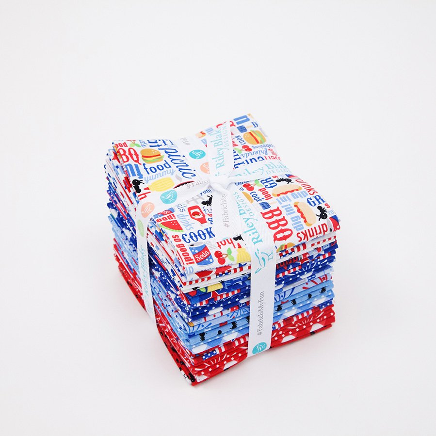 Riley Blake - Patriotic Fat QUarter Bundle 24 pc.