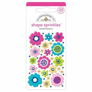 Doodlebug - Beautiful Blossoms Shape Sprinkles