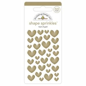 Doodlebug - Heart of Gold Shape Sprinkles