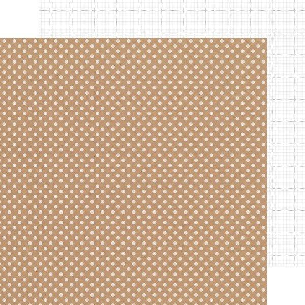 Doodlebug - Lily White Dot/Grid Kraft in
