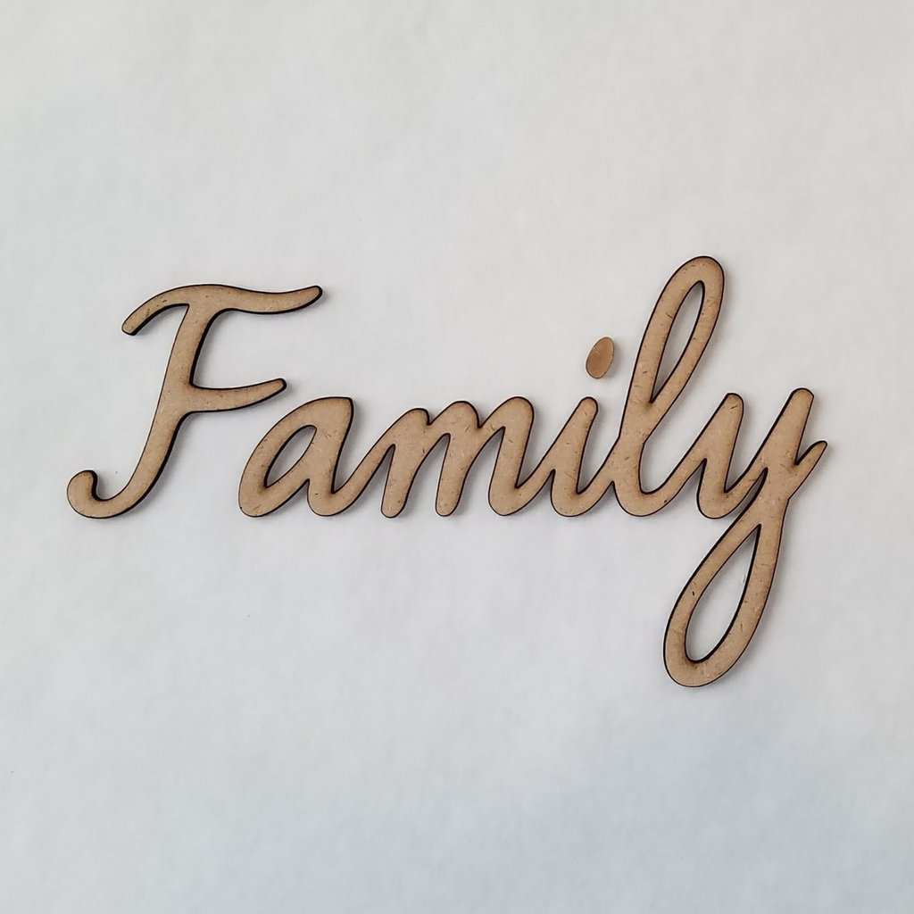 Foundations Decor - Family Smooth Font Words