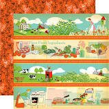 Carta Bella - Country Kitchen Border Strips 12x12 Paper