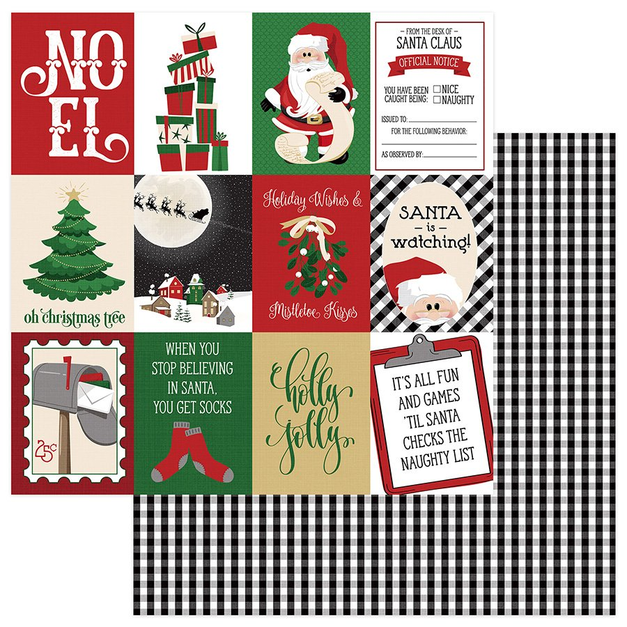 Photo Play - Here Comes Santa Holly Jolly 12x12 Paper
