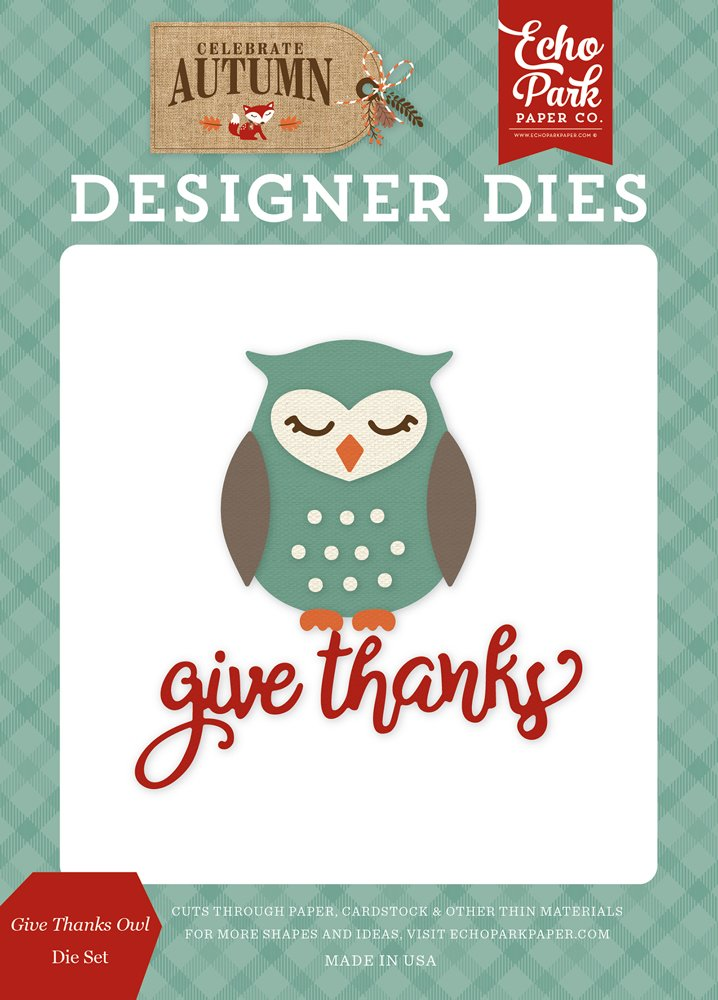 Echo Park - Give Thanks Owl Die Set