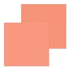 Doodlebug - Petite Prints Coral Dot-Stripe