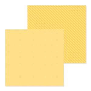 Doodlebug - Petite Prints Bumblebee Dot-Stripe 12x12 Paper