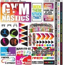 Reminisce - Gymnastics 12x12 Cardstock Stickers