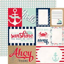 Carta Bella - Ahoy There Let's Sail 12x12 Paper