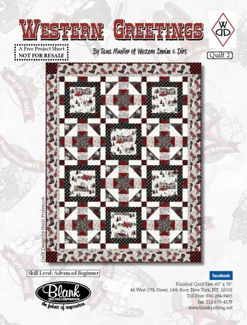 Western Greetings #1 Quilt Kit 65 x 89