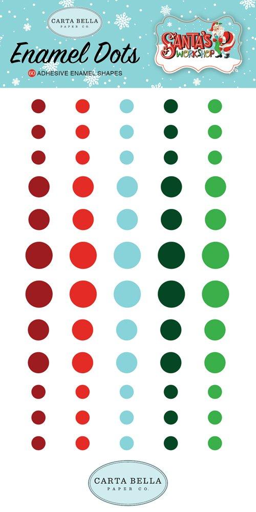 Carta Bella - Santa's Workshop Enamel Dots