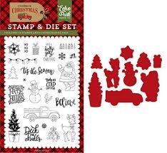 Echo Park - Deliver Christmas Die & Stamp Set