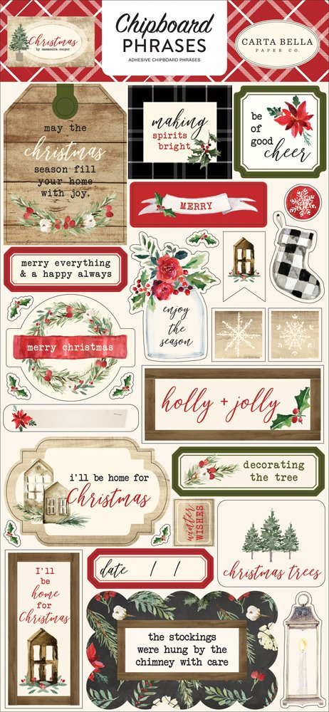 Carta Bella - Christmas 6x12 Chipboard Phrases