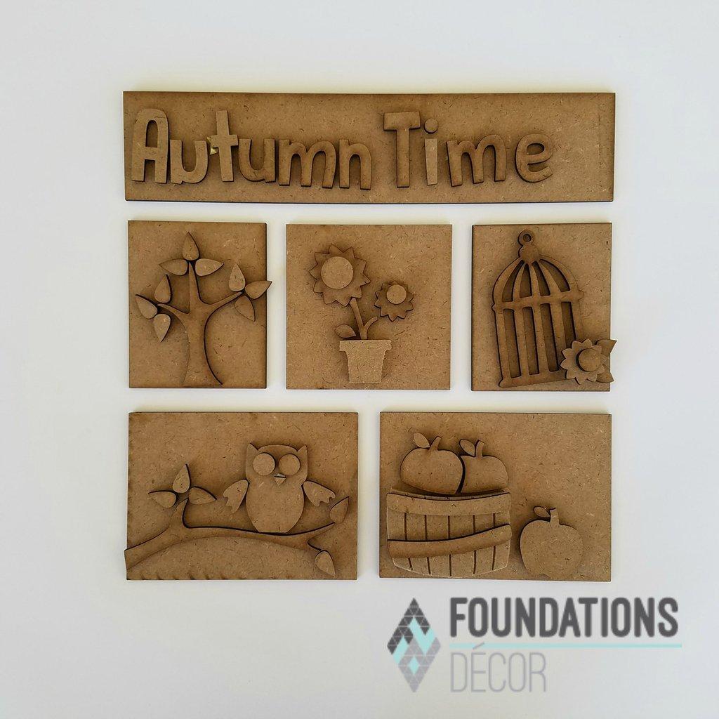 Foundations Decor - Autumn Shadow Box Kit