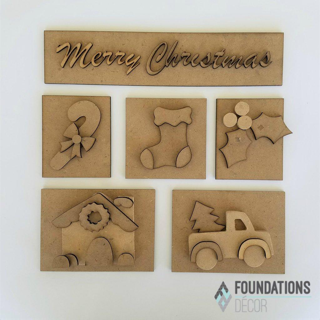 Foundations Decor - Christmas Shadow Box Kit