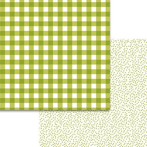 Bella Blvd. - Plaids and Dotty Pickle Juice 12x12 Paper