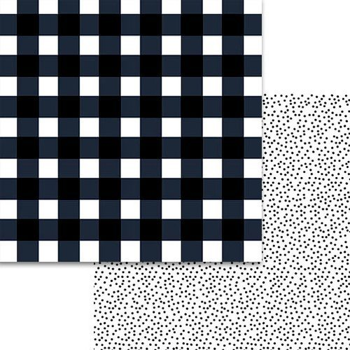 Bella Blvd. Plaids and Dotty Black 12x12 Paper