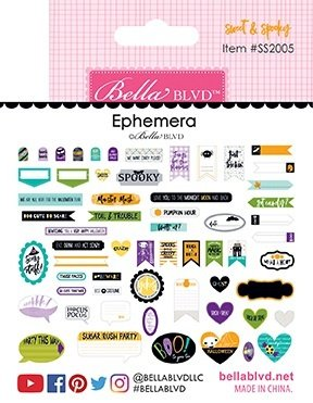 Bella Blvd. - Sweet & Spooky Ephemera Words Die Cuts