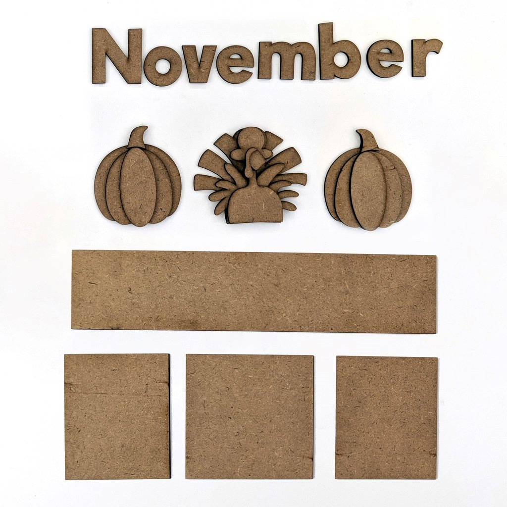 Foundations Decor - November Calendar Kit