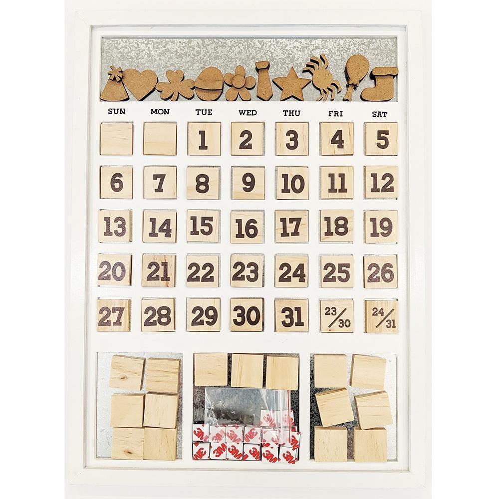 Foundations Decor - Magnetic Calendar Frame - White