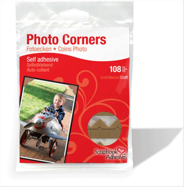 Scrapbook Adhesives Kraft Paper Photo Corners 108pc