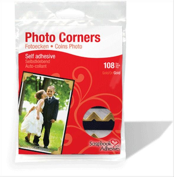 Scrapbook Adhesives Gold Photo Corners 126pc