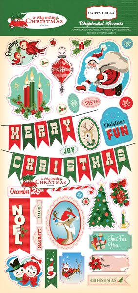 A Very Merry Christmas 6x12 Chipboard