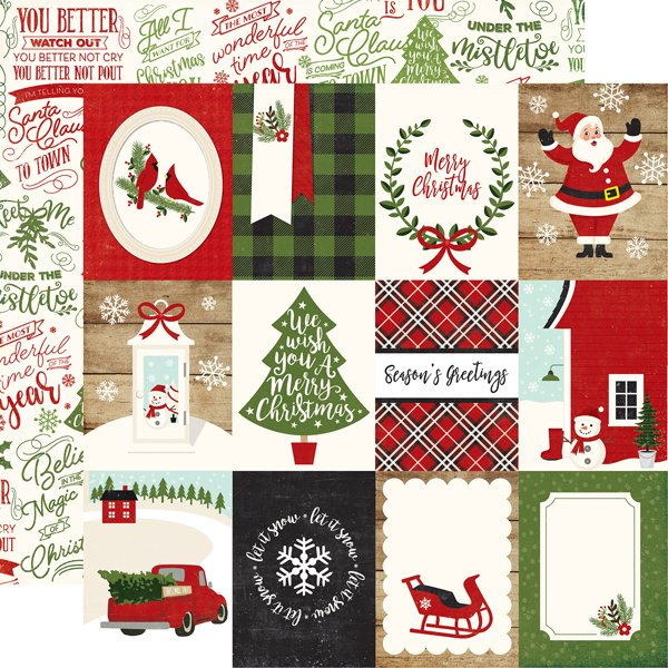 A Perfect Christmas 3x4 Journaling Cards
