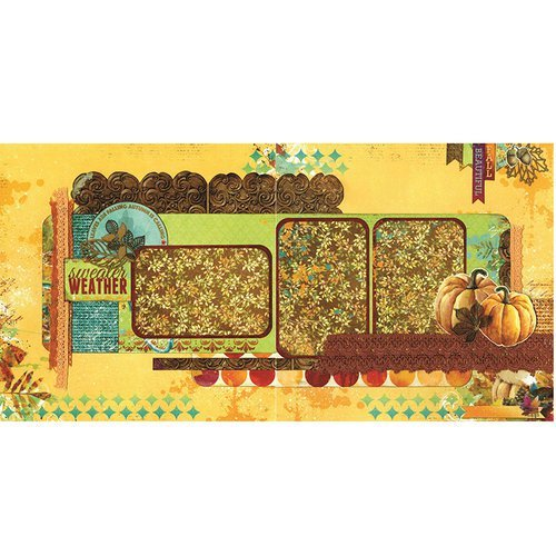 Dreams of Autumn 2 page Layout Kit